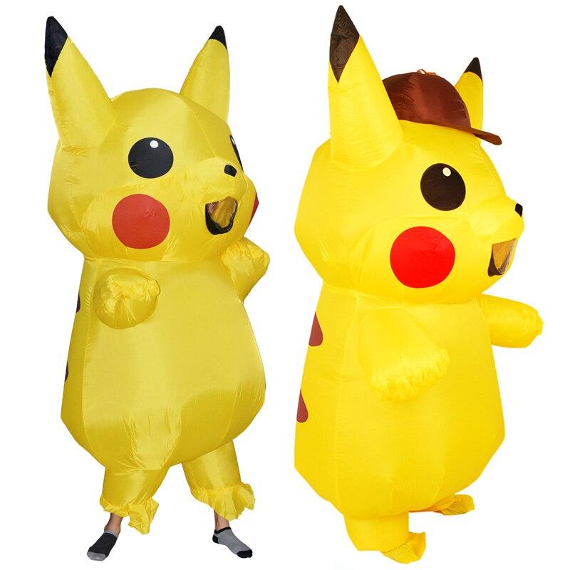 Adults Kids Inflatable Pikachu Costume Pokemon Detective Pikachu Cosplay-2 (3)