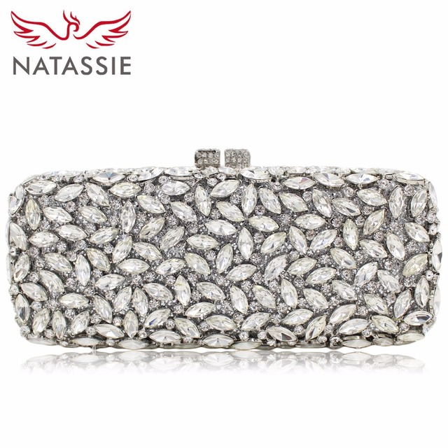 NATASSIE 12 Colors Women Evening Bags Ladies Silver Clutches Bag Female Wedding Gold
