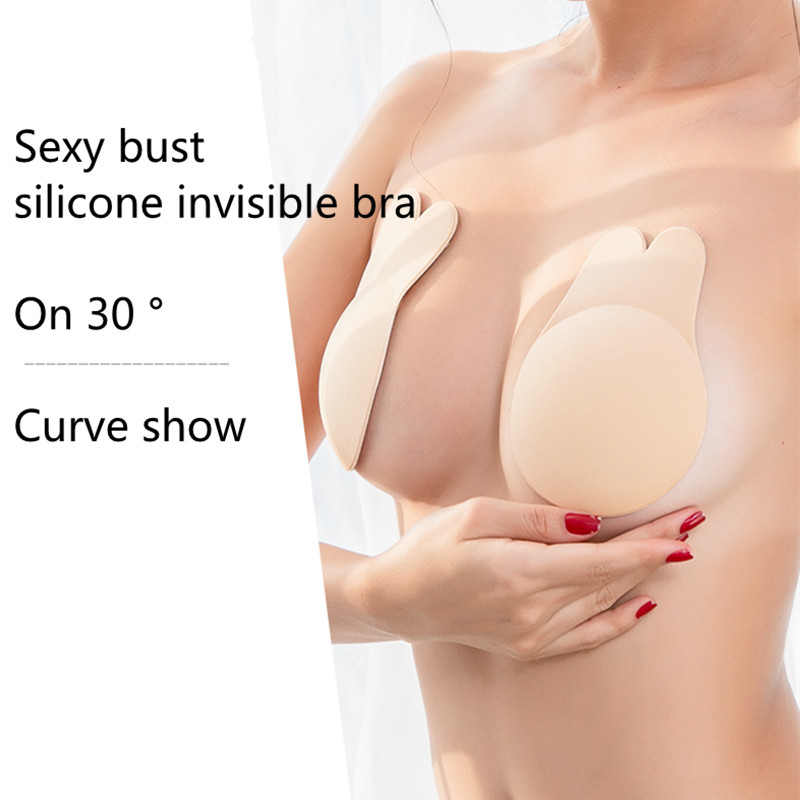 Hot <font><b>Lingerie</b></font> <font><b>Femme</b></font> <font><b>Push</b></font> <font><b>Up</b></font> Bra Strapless Bras Women Self Adhesive Wireless Bralette Breast For Party Dress <font><b>Sexy</b></font> Underwear image