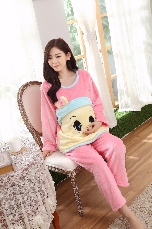 892563117 HAPPYISLAND Gravidez Maternidade Roupas de Inverno Bonito Nightgowns ...