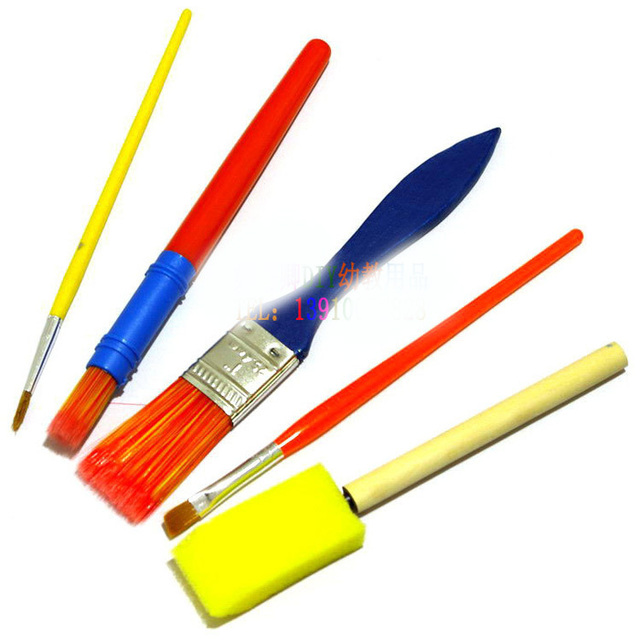 School Paint Brushes