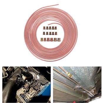 Nowy wysokiej jakości 25 Ft Cewka rolkowa 3 16 #8222 OD miedziany nikiel przewód hamulcowy antykorozyjny odporny na korozję zestaw przewodów rurowych #295482 tanie i dobre opinie Steel Zinc+Copper Nickel 3 16 in O D 0 28 in 25 ft Coils ( 25ft=300inch=7 62M ) 630g It won t rust corrosion resistance extremely easy to bend by hand