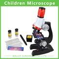 100X 400X 1200X Microscópio Biológico Monocular Student Microscópio Preço Barato Crianças Presente Educacional Microscopia