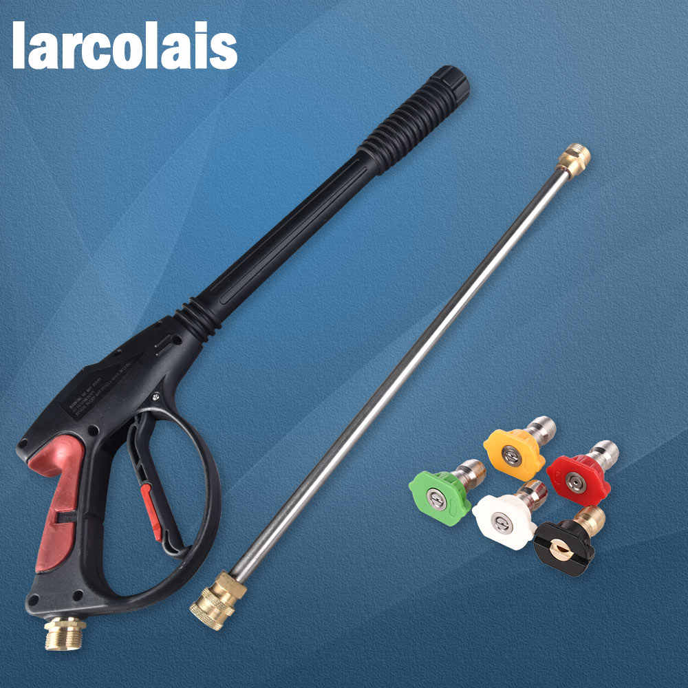 4000 PSI Spuitpistool Hogedrukreiniger Pistool Met 19 ''Extension Wand 4 Quick Connect Nozzles 1 zeep Nozzle voor Car Home Wasmachine