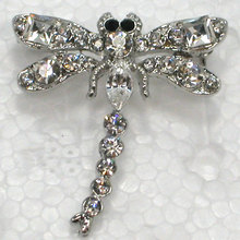12pcs lot Wholesale Fashion Brooch Rhinestone Dragonfly Pin brooches  costume jewelry gift C101493(China 06f62aae1e8a