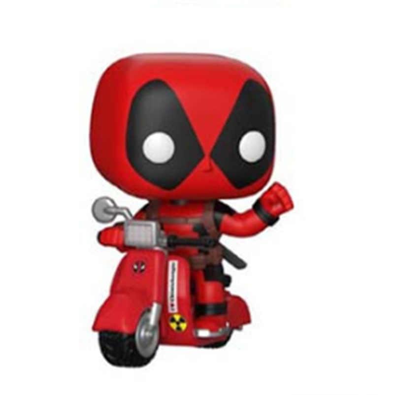 FUNKO פופ אנימה מארוול X-men deadpool על קטנוע PVC בובת פעולה איור דגם קישוט אוסף איור צעצועי עבור ילדים