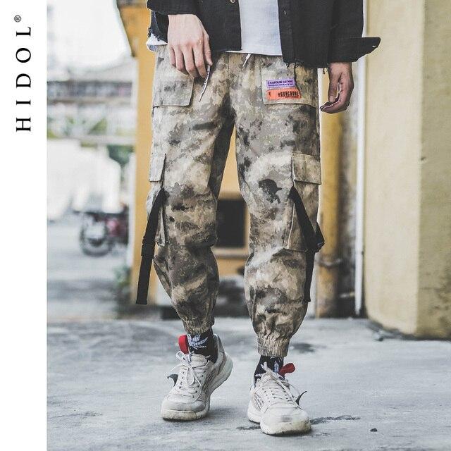Military Desert Camouflage Cargo Pants Buckle Multi Pocket Jogger