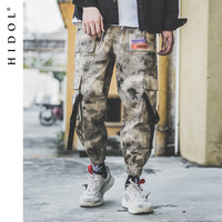 Military Desert Camouflage Cargo Pants Buckle Multi Pocket Jogger Patchwork Camo Army Track Tactical Trousers Hip Hop Streetwear