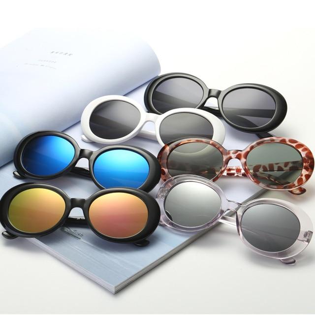 c4b2a7410d De alta calidad de Kurt Cobain gafas NIRVANA Clout gafas de sol mujer marca  diseñador hombres Oval Vintage gafas de sol 2018