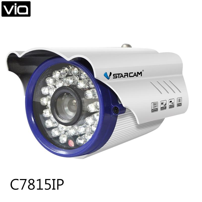 Vstarcam C7815IP Free Shipping 1MP Plug&Play IR cut Night Vision 15M Infrared 720p outdoor waterproof onvif ip Camera free shipping p2p 720p 1mp hd plug