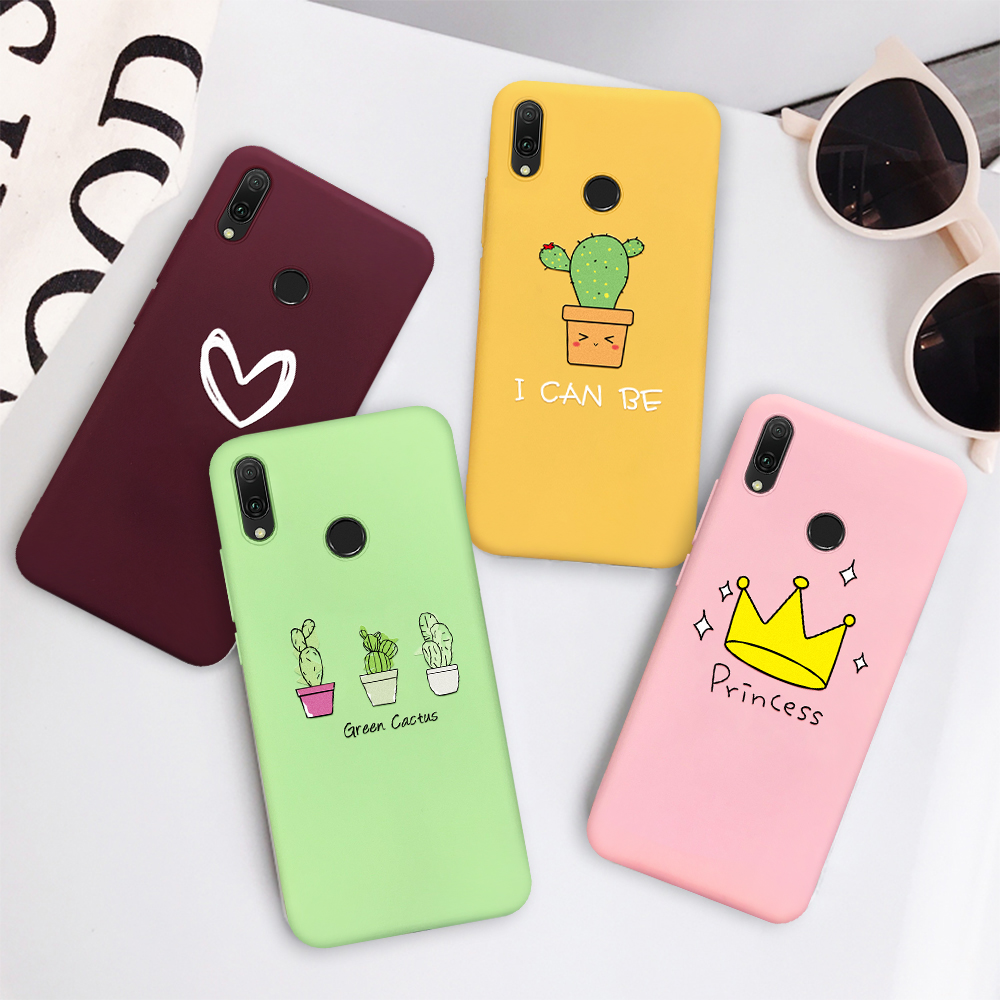 Pattern Case For Huawei Mate 10 20 P20 P30 Pro Lite P Smart Plus 2019 Cactus Pineapple Colorful Soft Colorful Silicone Cases