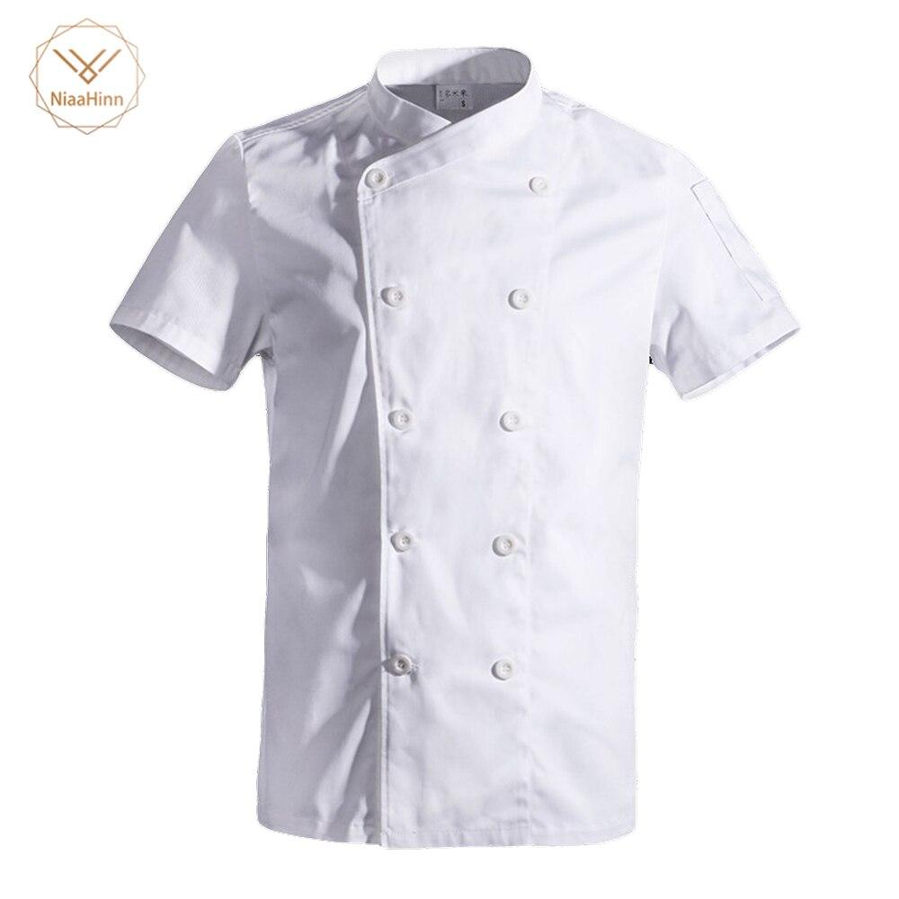 Job Lot 4 x PW Chefwear Chef Jackets White Full Sleeve Chef Coats Uniform Large