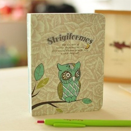 1pcs/lot  Vintage Kawaii night Owl design Notepads DIIY Journal notebook paper Diary books Nice gift 1 design laser cut white elegant pattern west cowboy style vintage wedding invitations card kit blank paper printing invitation