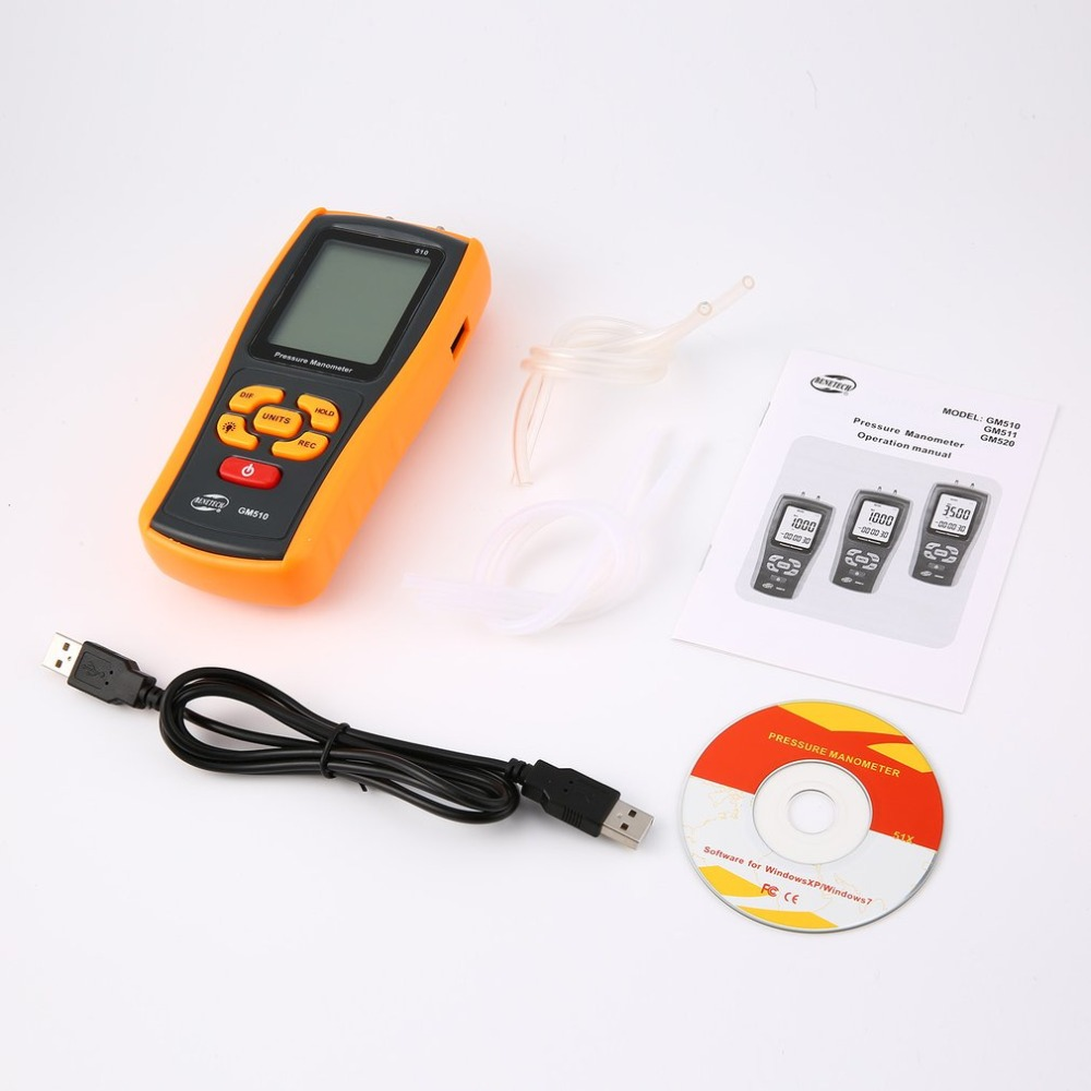 цена на High precision digital pressure gauge GM510 micro-pressure gauge differential pressure manometer air pressure gauge