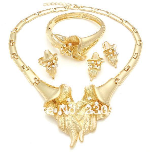 2014 rani haar jewelry set Pakistani bridal dubai gold jewelry