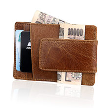 2019 New Fashion Men Wallet Money Clip Magnet Clip Ultrathin Pocket Clamp Credit Card Case Mini Creative Wallet for Male(China)