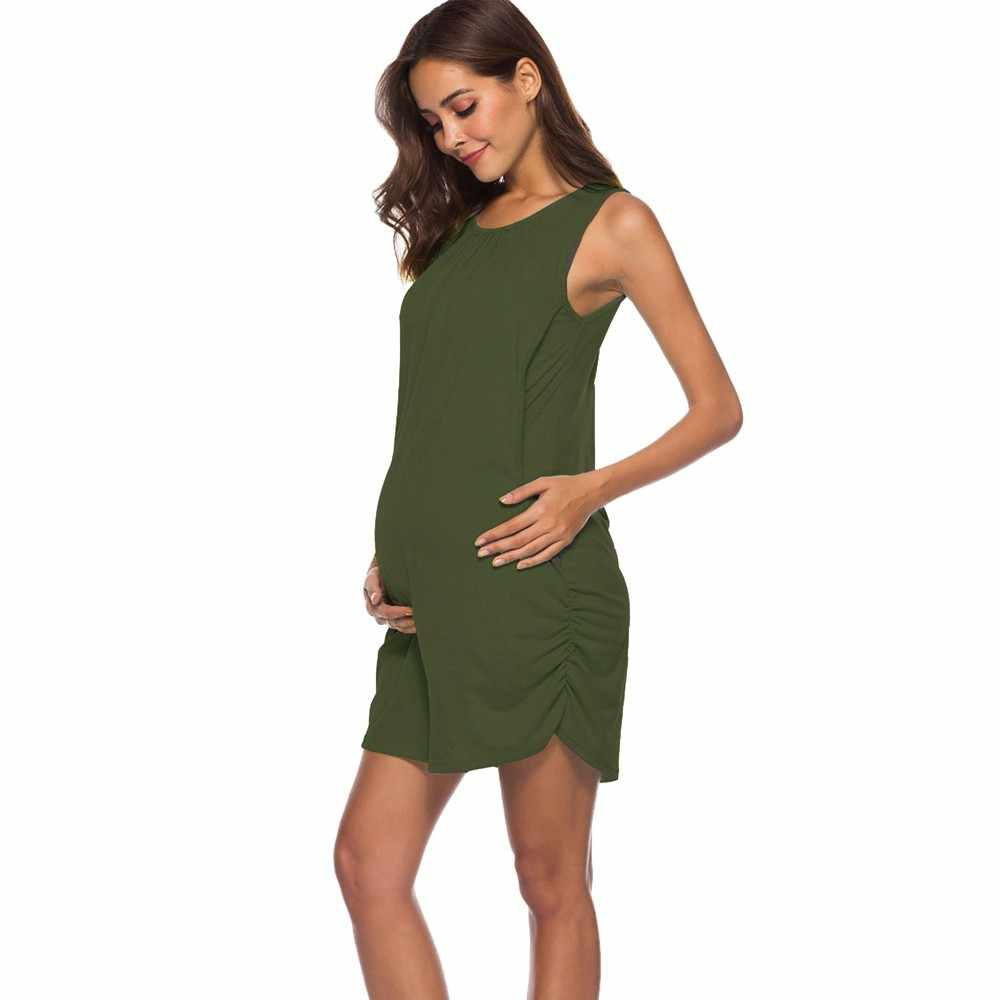 Nursing Dress Women Elegant Sleeveless Summer Mini ...