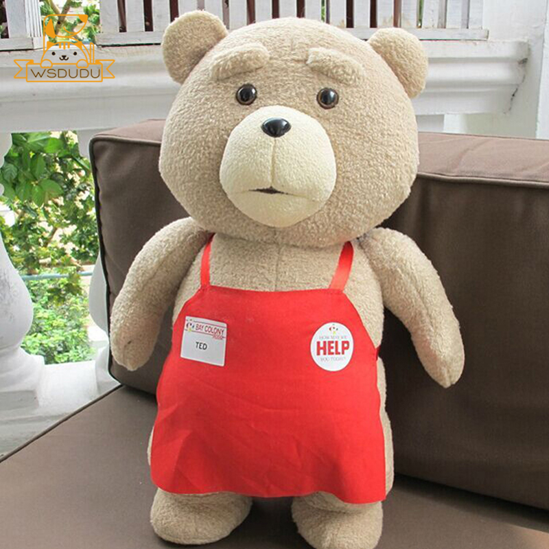 Big Apron Teddy Bear Plush Stuffed Animal Teds Toys Soft Cute Cartoon Fun Movie Figure Dolls Cushion Giant Pillow For Girl GiftsBig Apron Teddy Bear Plush Stuffed Animal Teds Toys Soft Cute Cartoon Fun Movie Figure Dolls Cushion Giant Pillow For Girl Gifts