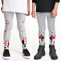 New striped girls leggings cotton trousers girls clothes print gray girl pants kids clothing