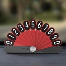 hot deal buy car stop card luminous model peacock opening for car temporary parking sign car number plate