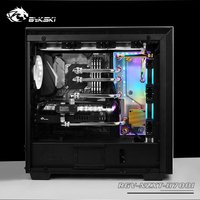 BYKSKI Acrylic Board Water Channel Solution use for NZXT H700B Computer Case for CPU and GPU Block Cooling / 3PIN RGB Light|Fluid DIY Cooling| |  -