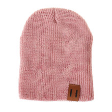Kids's stable colour wool knit cap pullover cap child informal winter hat heat boy lady hat black Sombrero de invierno YL-NEW