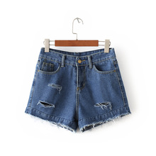 High Waisted Denim Shorts Nice Summer Sexy Women Bore Hole Denim Shorts Vintage Fashion Slim Fit Ripped Short Jeans Short Femme
