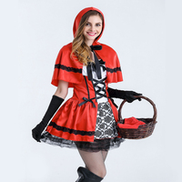 adult Halloween Fairy tale clothing Little Red Riding Hood Cosplay dress suit performance stage costume for adult JQ 1039