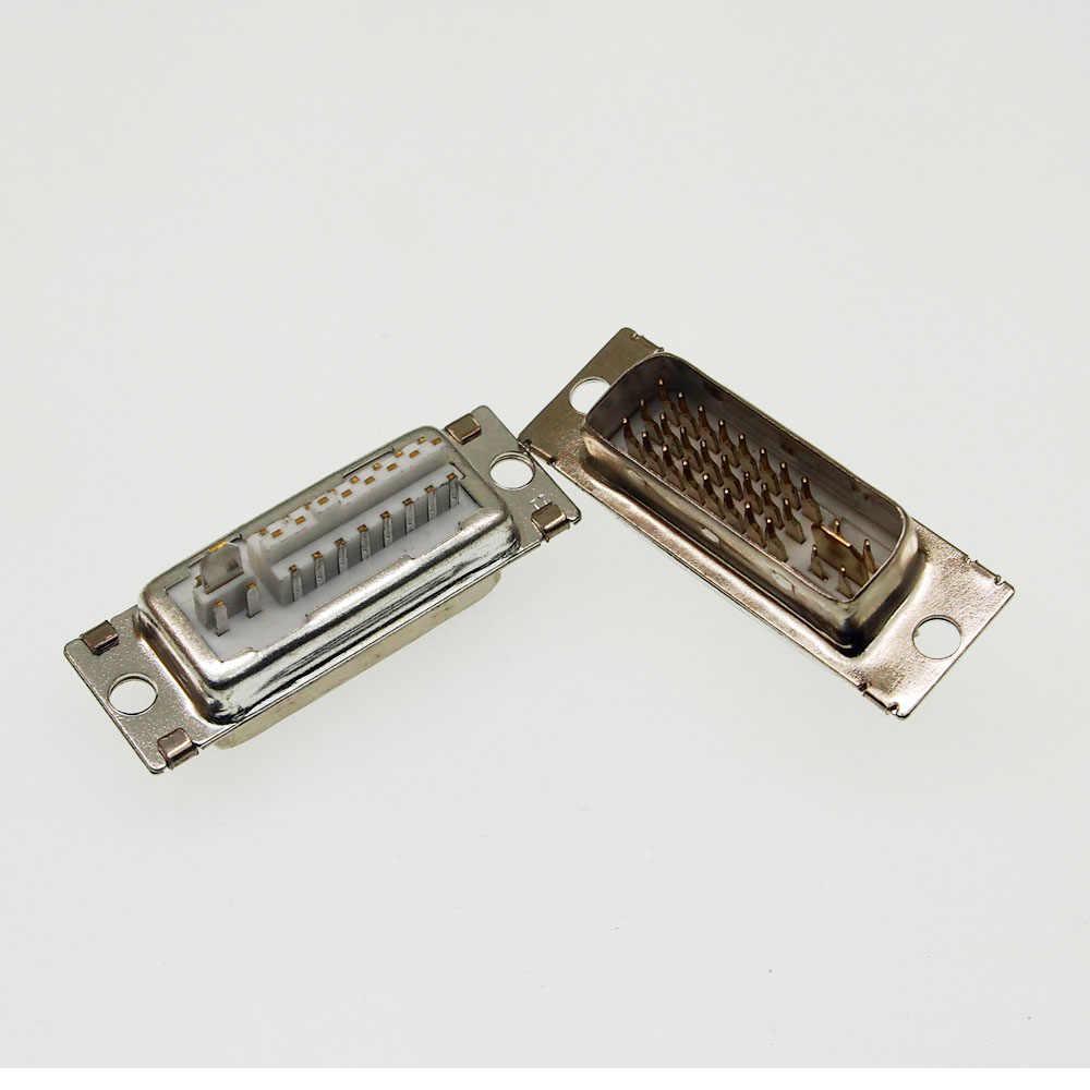 DVI 29Pin UNTUK PCB 180 Derajat Male Konektor Jack 24 + 5 Pin Male Socket/Steker/JACK UNTUK video Audio Display
