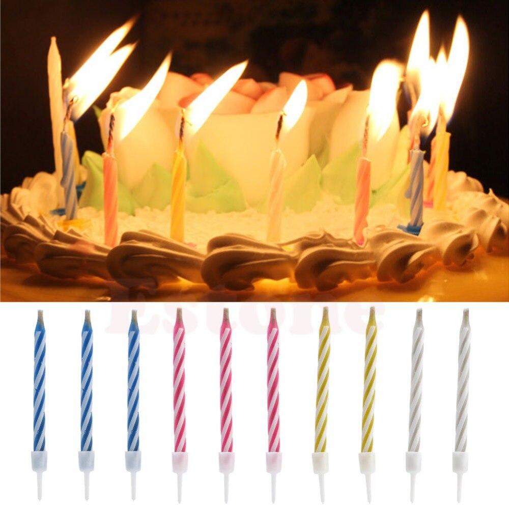10 Pcs Magic Relighting Kaarsen Voor Verjaardag Fun Party Cake Jongen Meisjes Truc Speelgoed- Chinese Smaken Bezitten