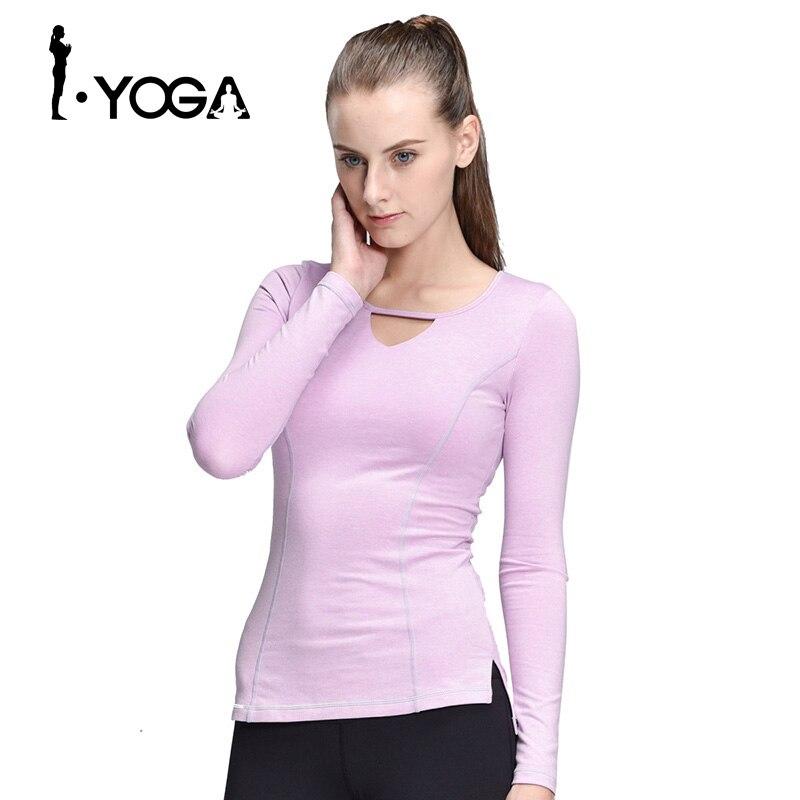 Femmes Yoga Sport T-Shirt À Manches Longues De Yoga Tops Collants de Course Mujer Deportivas Femme FitnessT-Running Shirt Femmes Vêtements CX005