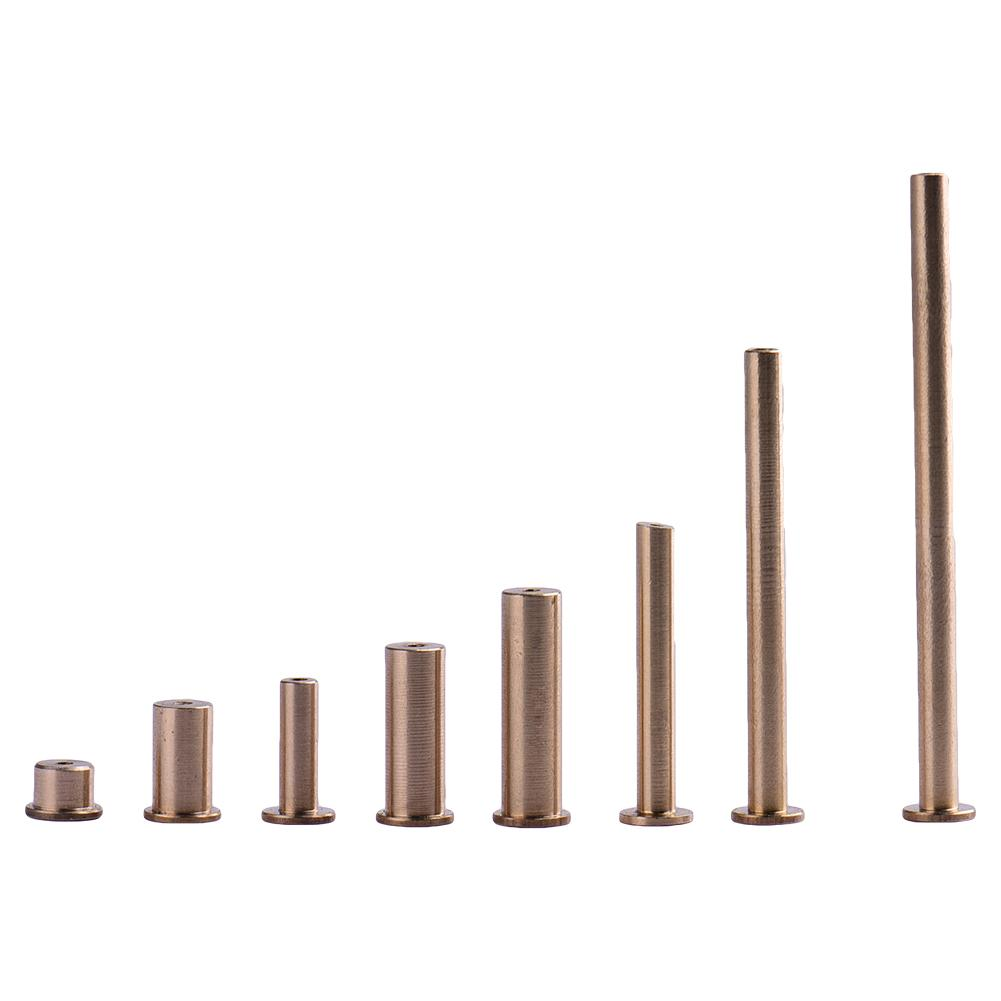 8PCS/ Set Gold Copper Nail Brass Plug Golf Weight Weights For .335 .355 .370 Tip Steel Shaft 2g 4g 6g 8g Club Head Kits