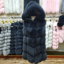 Fur Coat Vest Natural Hood Thick Now Removable Fox-Fur Female High-Quality New-Brand