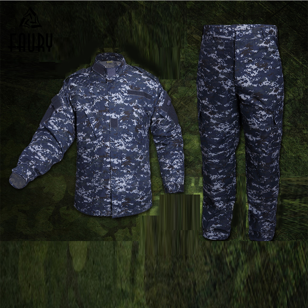 Men's Military Uniforms Army NWU Marine Digital Camouflage Super Battleship Style Tactical Combat Jacket Cargo Pants Suit CS