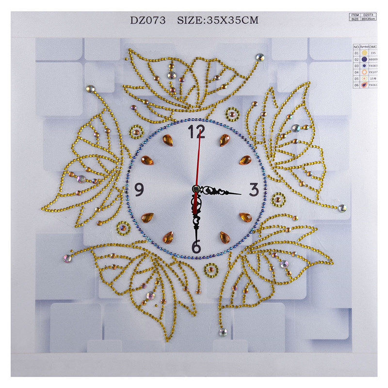 2019 New Wall Clock Quartz 5D Special Shaped Diamond Butterfly Embroidery Decorative Clocks Cross Stitch Living Room 35 35cm in Diamond Painting Cross Stitch from Home Garden