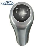 Black Silver Manual 5 Speed MT Gear Shifter Lever Shift Stick Knob For BMW E30 E32