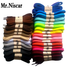 Mr.Niscar 1 Pair Berkualiti Tinggi Poliester Flat Shoelaces 28 Warna Kasut berwarna Kasut Kasual Sneakers Shoelace Strings Tali