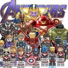 Legoings Single Avengers 4 Endgame Thanos Thor Raccoon Hawkeye War Machine Iron man Nebula Ant Man Building Blocks Gifts Toys