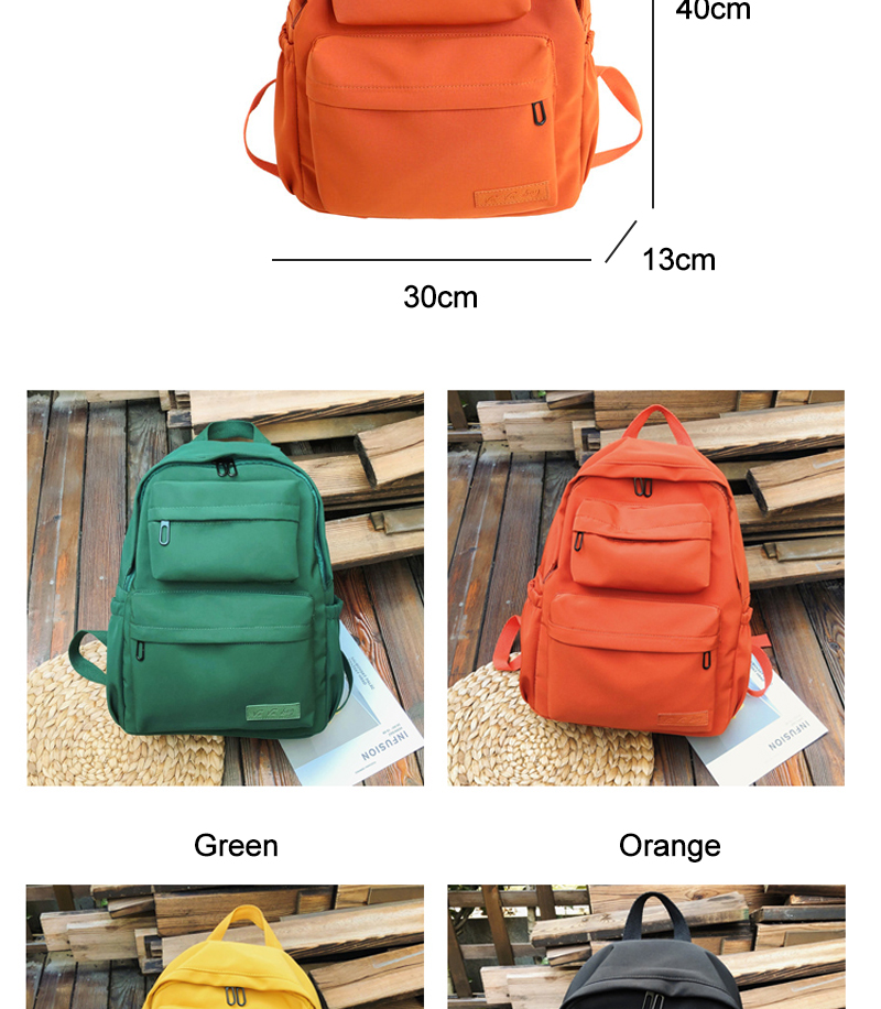 HTB1PcWJKCzqK1RjSZPcq6zTepXaQ - Waterproof Nylon Backpack for Women Multi Pocket Travel Backpacks Female School Bag for Teenage Mochilas