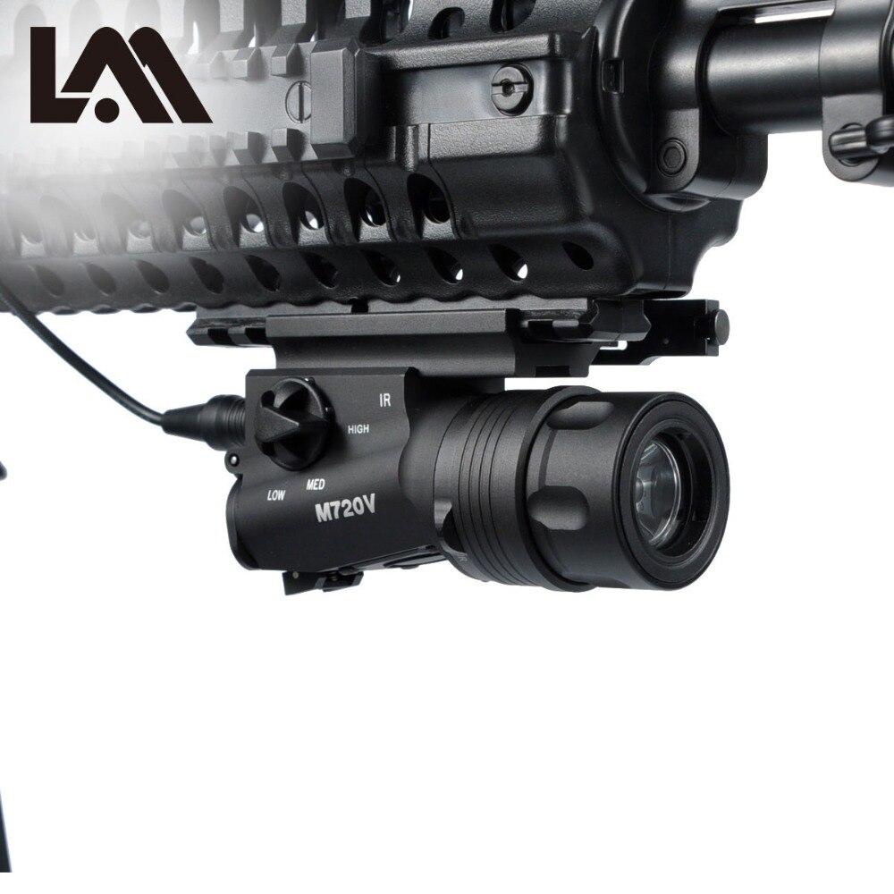 LAMBUL Airsoft Surefir M720V arme tactique lumière strobo lampe de poche chasse Softair Ir lampe Arma fusil pistolet lanterne pour la chasse