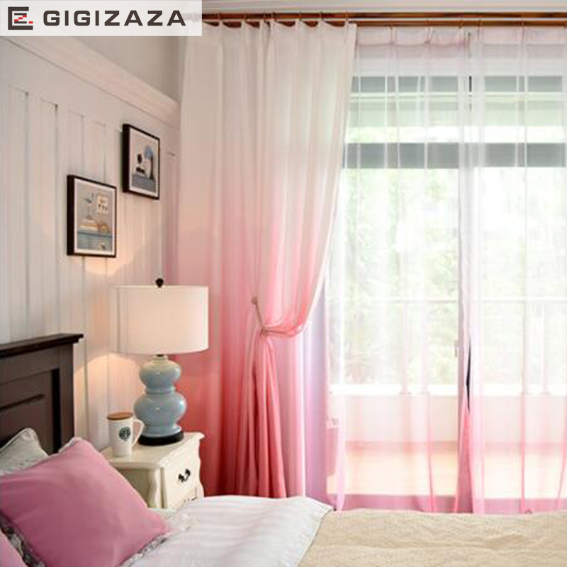 Heavy blinds 3D printed gradient color quality modern curtains for living room divider blue green black out window treatments