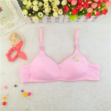 Teenage Girls Underwear Children's Training Bras for Child Young Girl Tank Tops Solid Soft Cotton thin small Bra 12~18 Year Old(China)