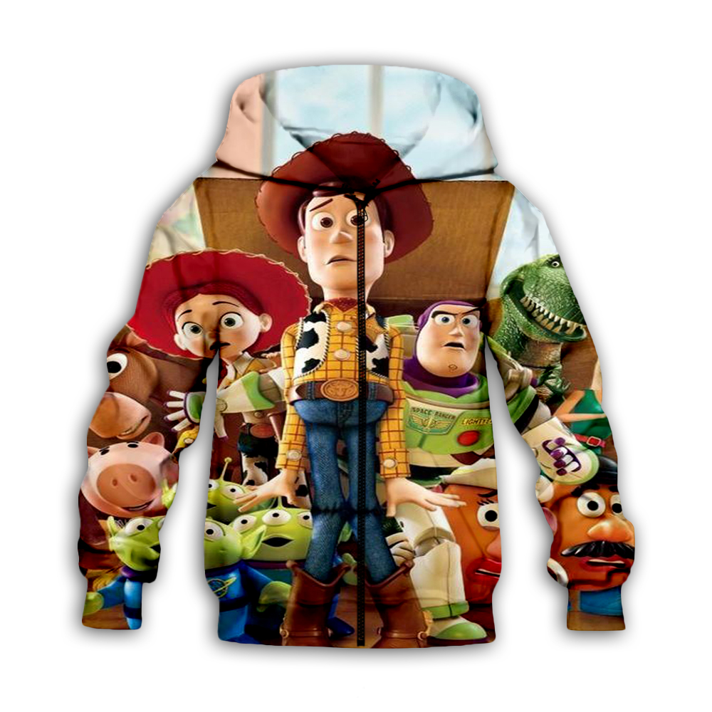 New fashion Children Sweatshirt 3D Toy Story 4 Print Kids Hoodies Simple Hip Hop Casual Jackets Hipster Boys Coat girl Clothing in Matching Family Outfits from Mother Kids