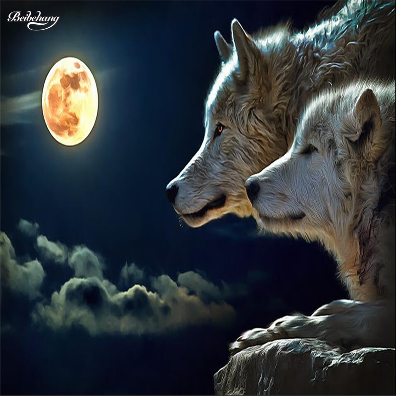beibehang wall decor paper 3D Night bright round moon wolves attack room dining room hotel wall murals-3d wall paper home decor x 3309 v folded paper dispenser abs plastic wall mounted paper holder home hotel toilet paper box