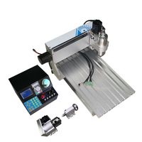 4 axis mini cnc milling machine 3040VH 1500W spindle metal engraving  with cutter collet clamp vise drilling kits