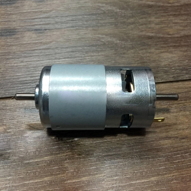 795 Motor, Double-outlet High-power DC High-speed Motor, 12-24V Pure Copper Wire High Torque Double Ball Round-axis Motor