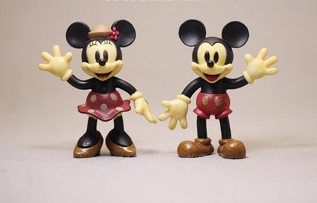 2pcs/lot 7cm couple of mickey mouse minnie mouse Figure Model vintage mickey mouse PVC Decoraive Figure Toy for Kids утюг simba minnie mouse с водой 4735135