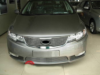 HOT High quality stainless steel Front Grille Around Trim Racing Grills Trim for KIA Cerato/Forte 2009-2012