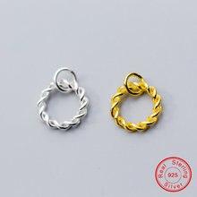 Uqbing Модный кулон в виде крученого кольца из золота и серебра