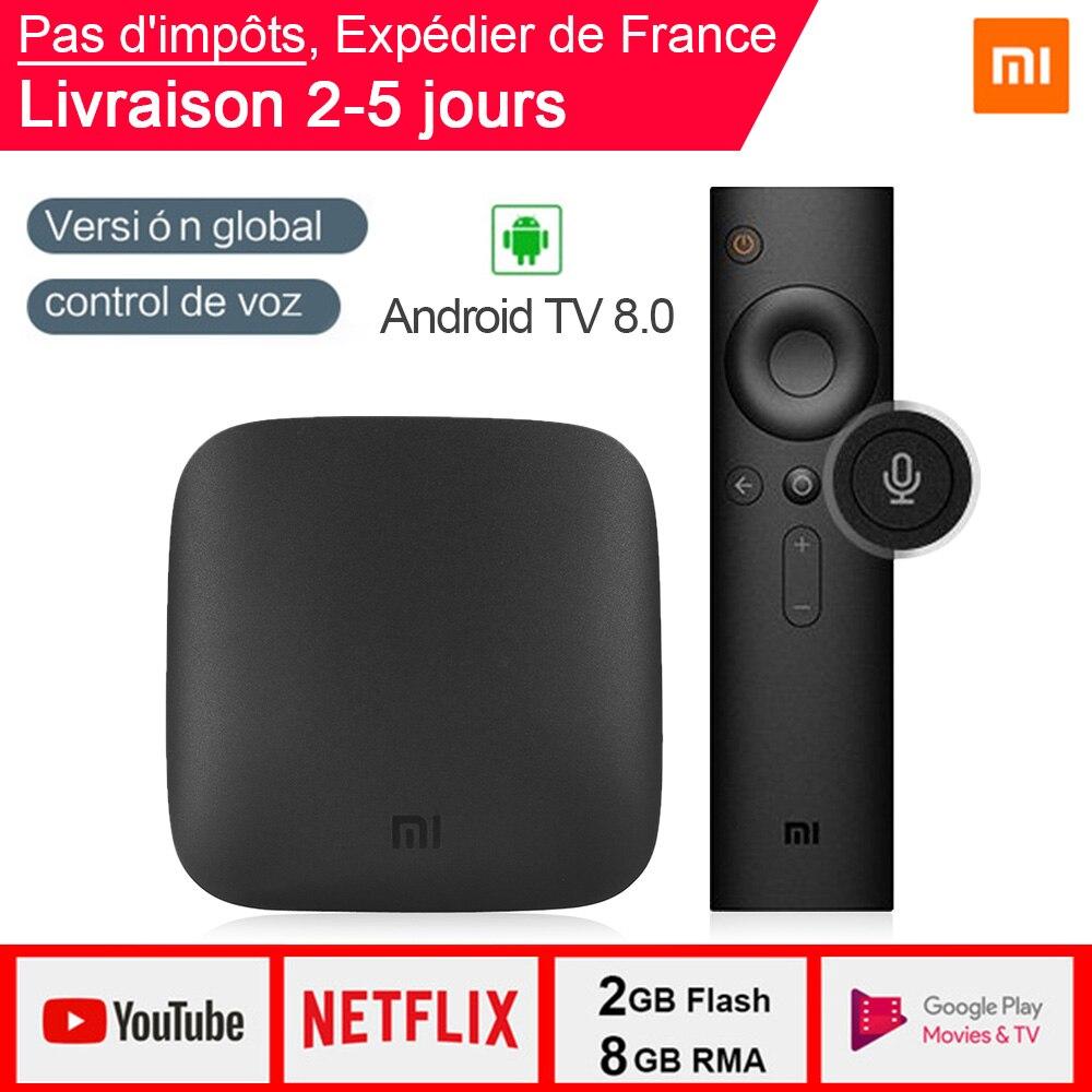 Xiao mi Box 3 Android TV 8.0 2G + 8G Support BT double bande WIFI Google certifié recherche vocale mi Box 3 Android TV 8.0 mi Box 3